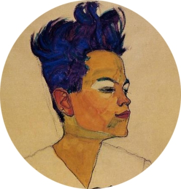 egon schiele blue hair-1